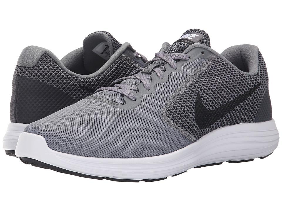 Nike - Revolution 3 (Cool Grey/White/Black) Men's Running Shoes