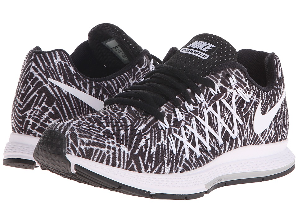 Nike - Air Zoom Pegasus 32 Print (Black/White) Women