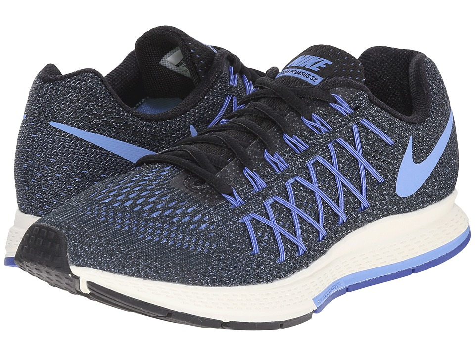 Nike - Air Zoom Pegasus 32 (Black/Racer Blue/Sail/Chalk Blue) Women's Running Shoes