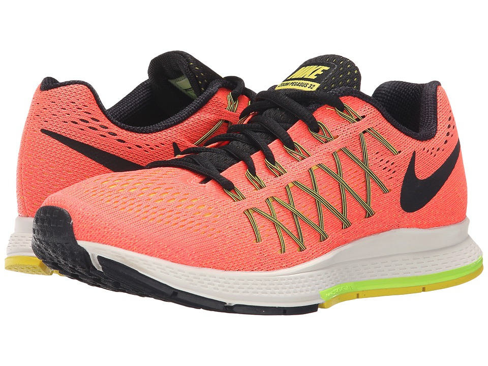 Nike - Air Zoom Pegasus 32 (Hyper Orange/Volt/Opti Yellow/Black) Women's Running Shoes