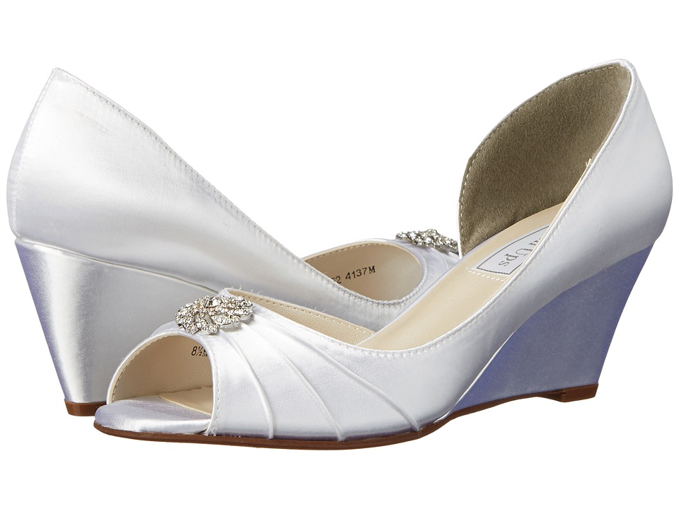 Touch Ups - Lee (White Satin) Women's Shoes