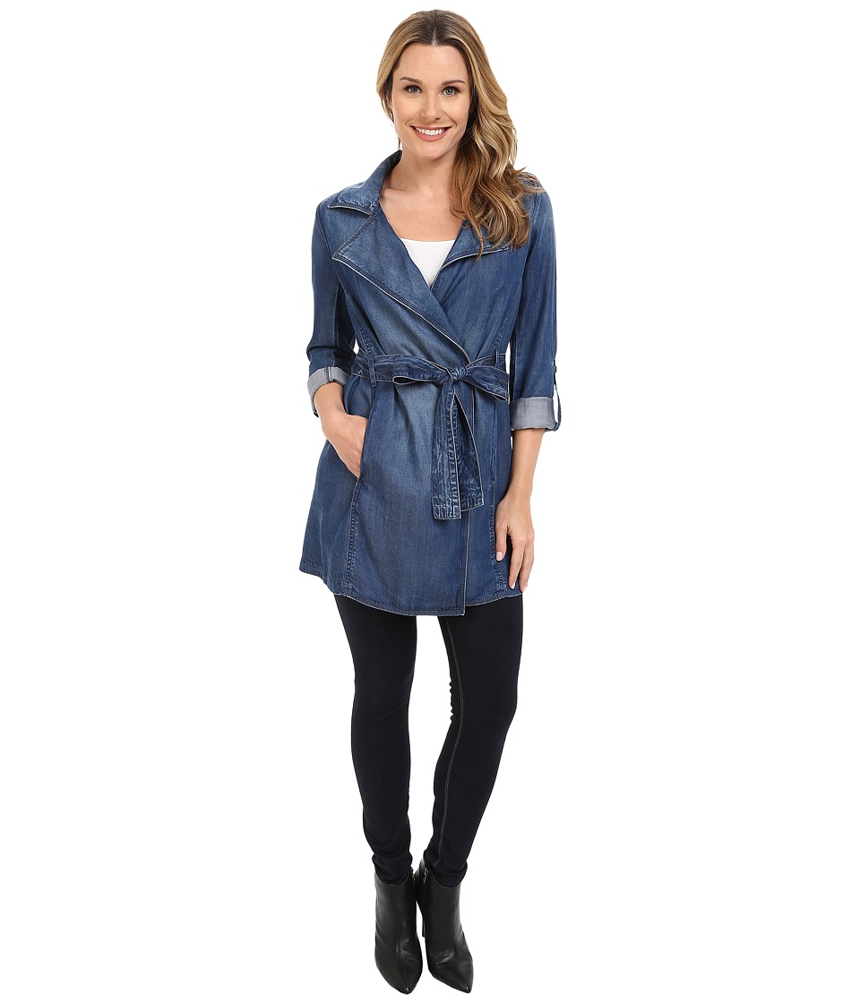 NYDJ - Drapy Trench Coat Denim (Denim) Women's Coat