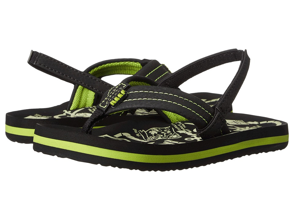 Reef Kids - Ahi Glow (Infant/Toddler/Little Kid/Big Kid) (Green Glow) Boys Shoes