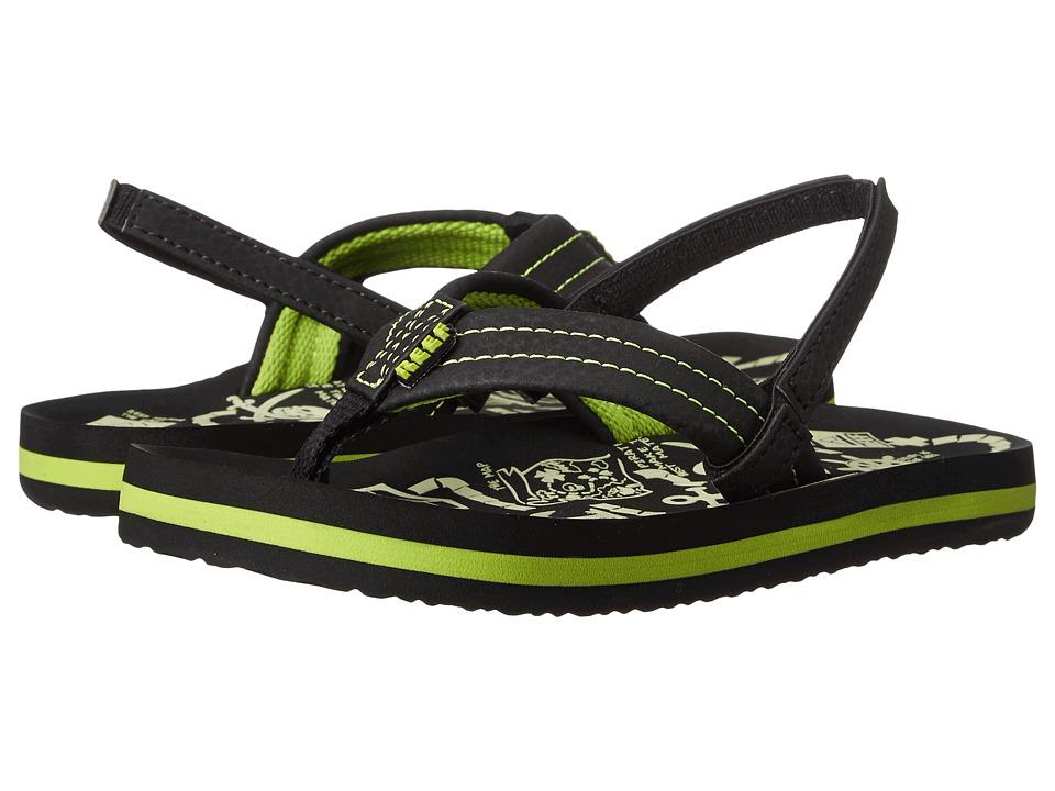 Reef Kids Ahi Glow (Infant/Toddler/Little Kid/Big Kid) (Green Glow) Boys Shoes