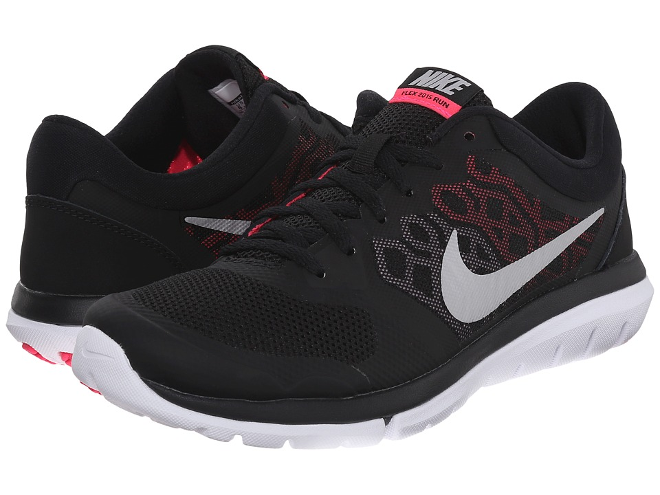 Nike - Flex 2015 RUN (Black/Hyper Pink/Digital Pink/Metallic Silver) Women's Running Shoes