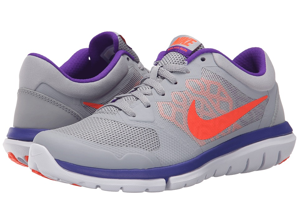 Nike - Flex 2015 RUN (Wolf Grey/Fierce Purple/Atomic Pink/Hyper Orange) Women's Running Shoes