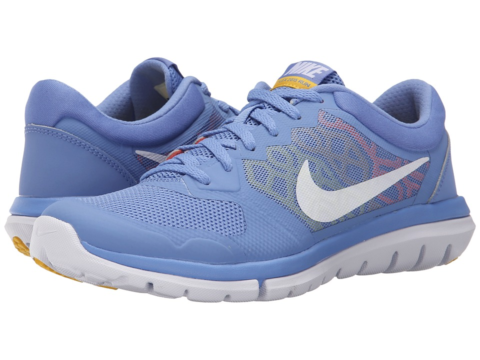 Nike - Flex 2015 RUN (Chalk Blue/Hyper Orange/Varsity Maize/White) Women's Running Shoes
