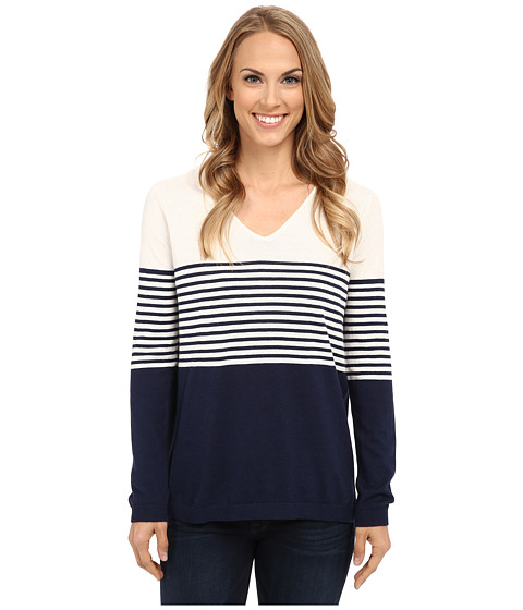 NYDJ - Striped Sweater (Bodega Stripes) Women's Sweater