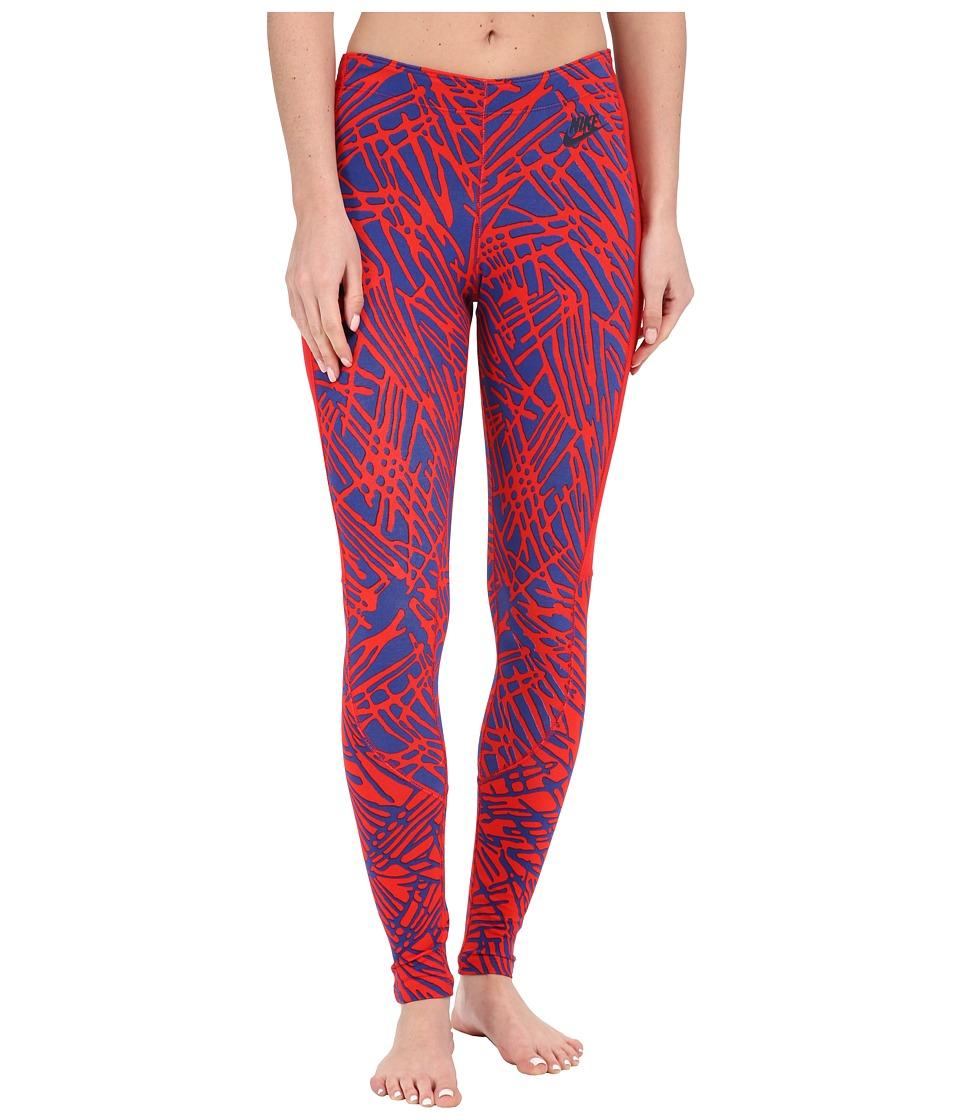 Nike - Leg-A-See Printed Legging (University Red/University Red/University Red/Obsidian) Women's Casual Pants