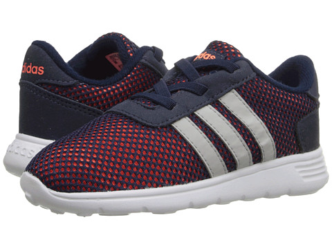 adidas Kids - Lite Racer (Infant/Toddler) (Collegiate Navy/Clear Onix/Solar Orange) Boys Shoes