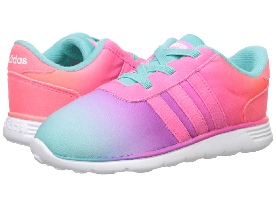adidas Kids - Lite Racer (Infant/Toddler) (Vivid Mint/Solar Pink/White) Girls Shoes