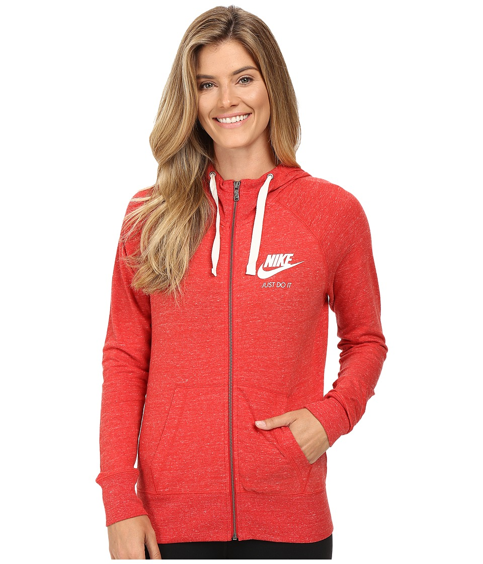 Nike - Gym Vintage Full Zip Hoodie (University Red/Sail) Women's Sweatshirt
