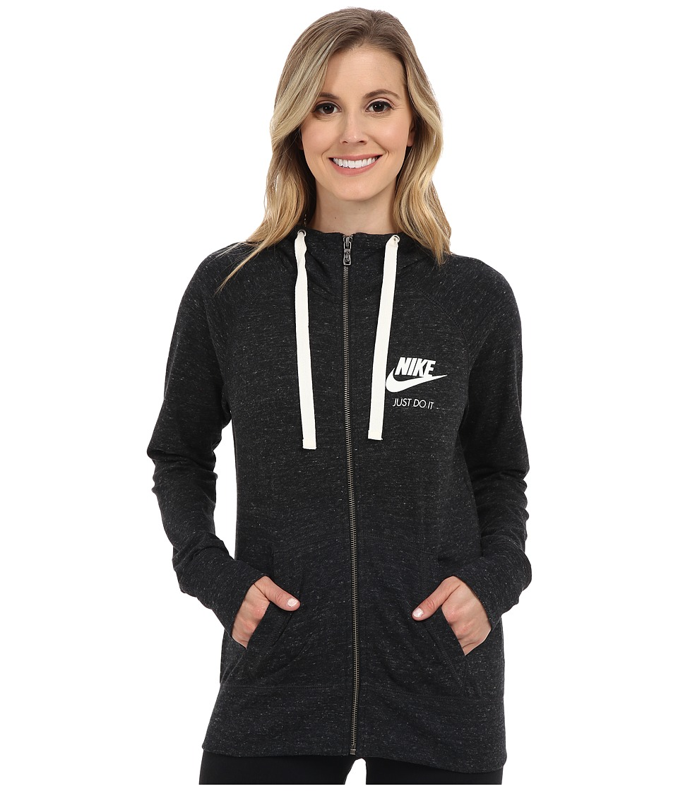Nike - Gym Vintage Full Zip Hoodie (Black/Sail) Women's Sweatshirt