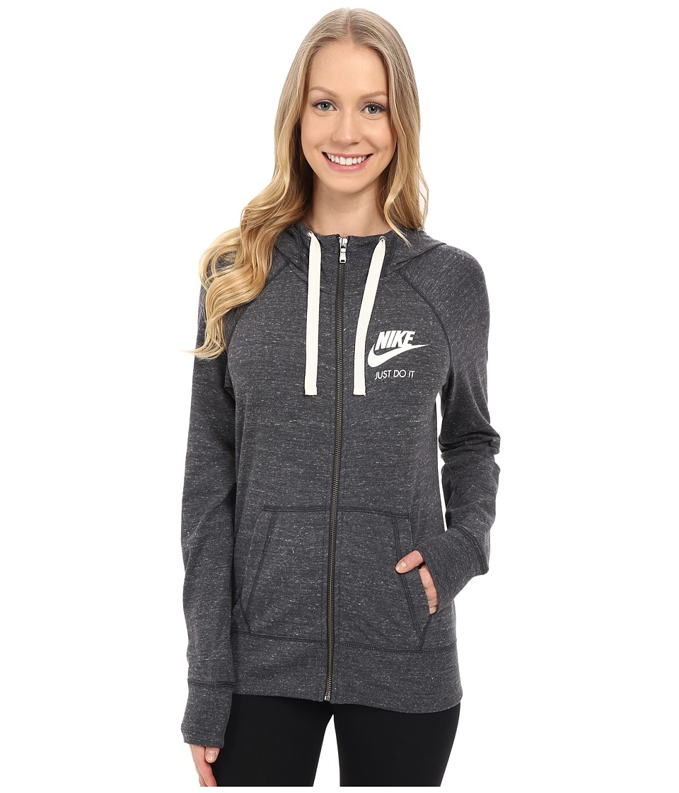 Nike - Gym Vintage Full Zip Hoodie (Anthracite/Sail) Women's Sweatshirt