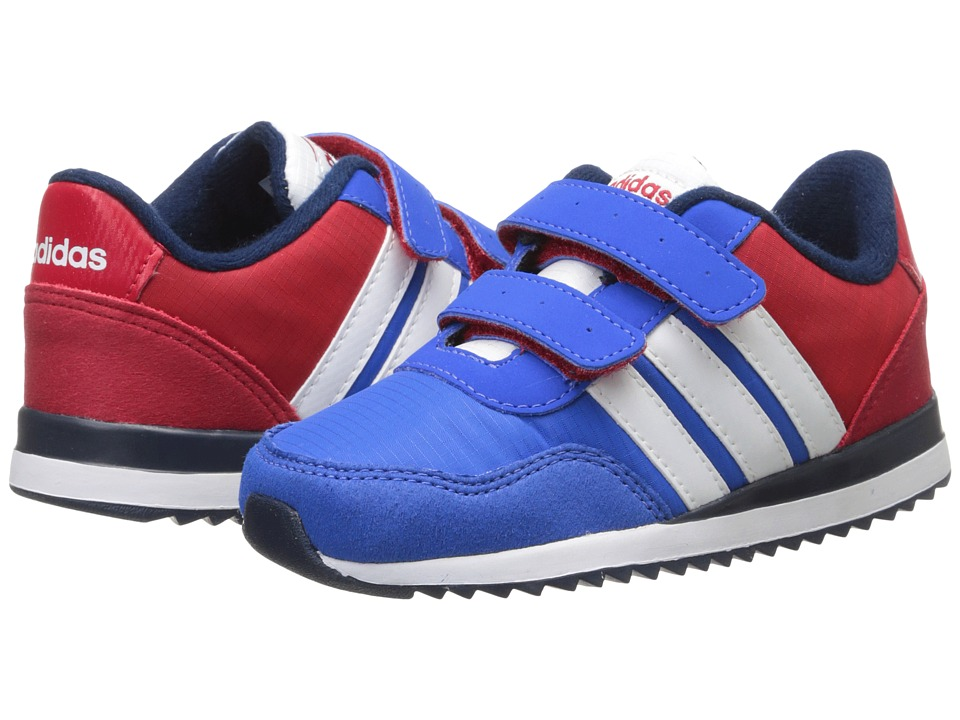 adidas Kids - V Jog CMF (Infant/Toddler) (Blue/White/Bright Red) Boys Shoes