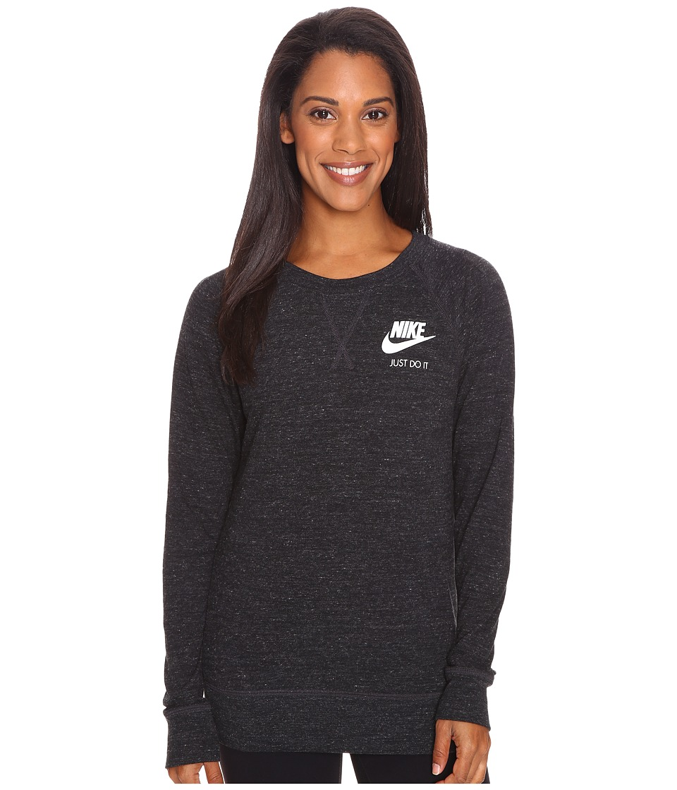 Nike - Gym Vintage Crew Top (Black/Sail) Women's Long Sleeve Pullover