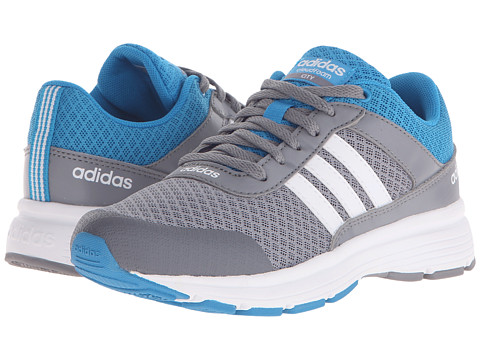 adidas Kids - Cloudfoam VS City (Little Kid/Big Kid) (Grey/Running White/Solar Core Blue) Kids Shoes