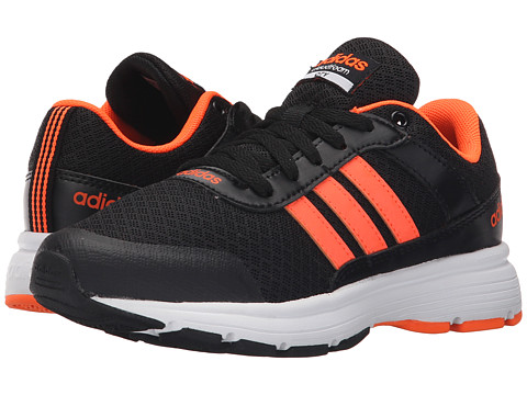 adidas Kids - Cloudfoam VS City (Little Kid/Big Kid) (Black/Solar Orange/White) Boys Shoes