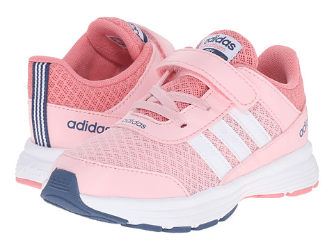 adidas Kids - Cloudfoam VS City (Infant/Toddler) (Diva/White/Ash Blue) Girls Shoes