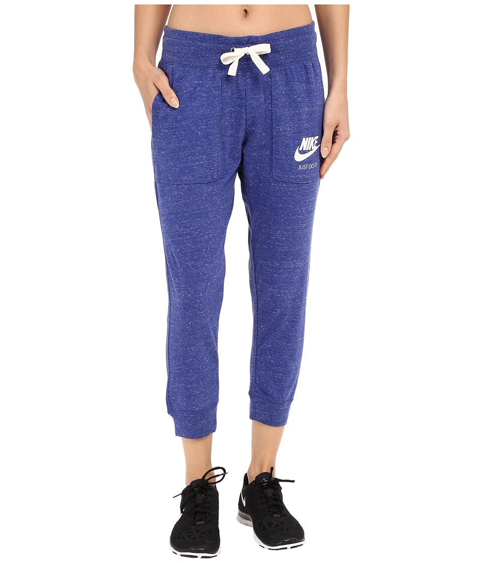 Nike - Gym Vintage Capris (Deep Royal Blue/Sail) Women's Capri