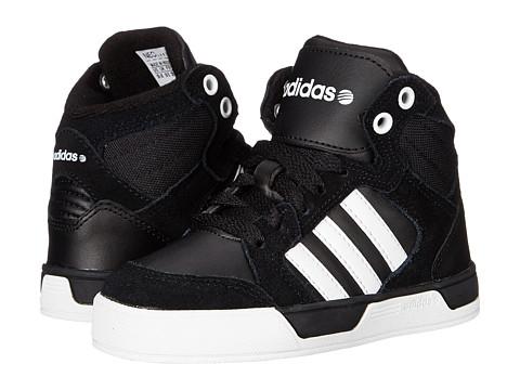 adidas Kids - Raleigh Mid (Little Kid/Big Kid) (Black/White/White) Kid's Shoes