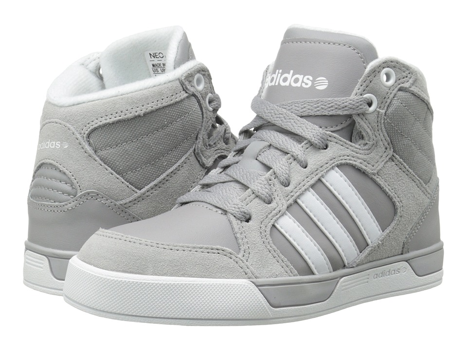 adidas Kids Raleigh Mid (Little Kid/Big Kid) (Aluminum/White/White) Kid