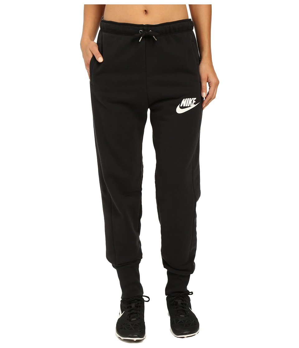 Nike - Rally Jogger Sweatpant (Black/Black/White) Women's Casual Pants