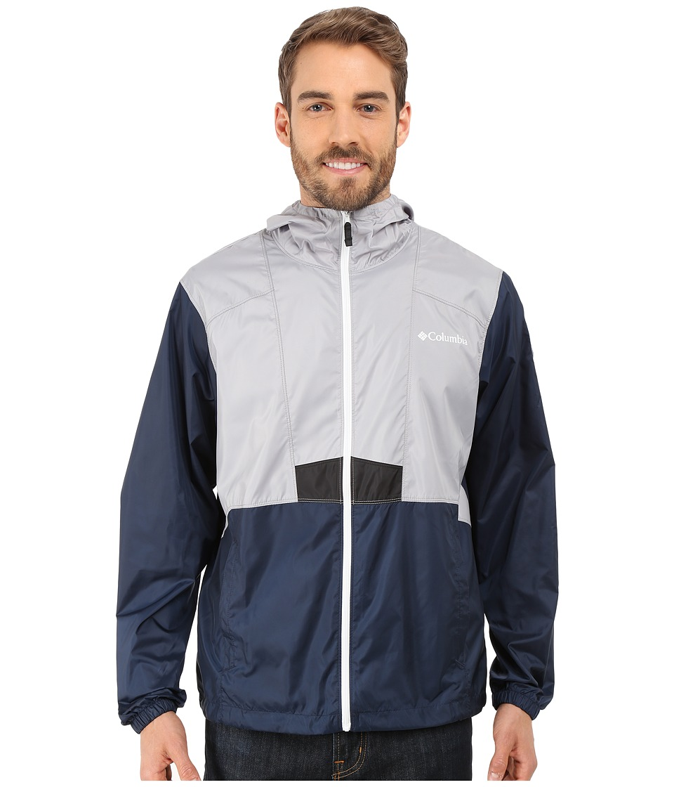 Columbia - Flashback Windbreaker Park Edition (Columbia Grey/Collegiate Navy/Smoky Mountains) Men's Coat