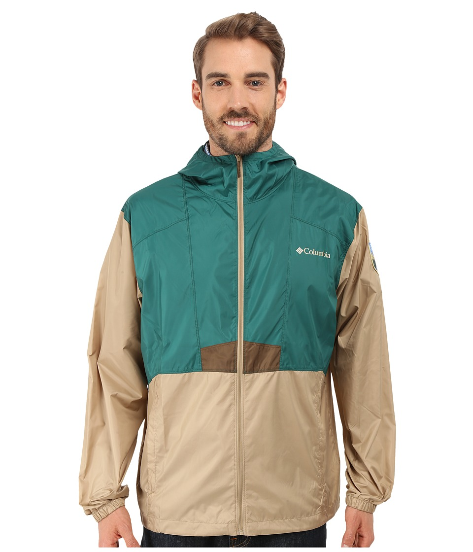 Columbia - Flashback Windbreaker Park Edition (Pine Green/British Tan/Rocky Mountain) Men's Coat