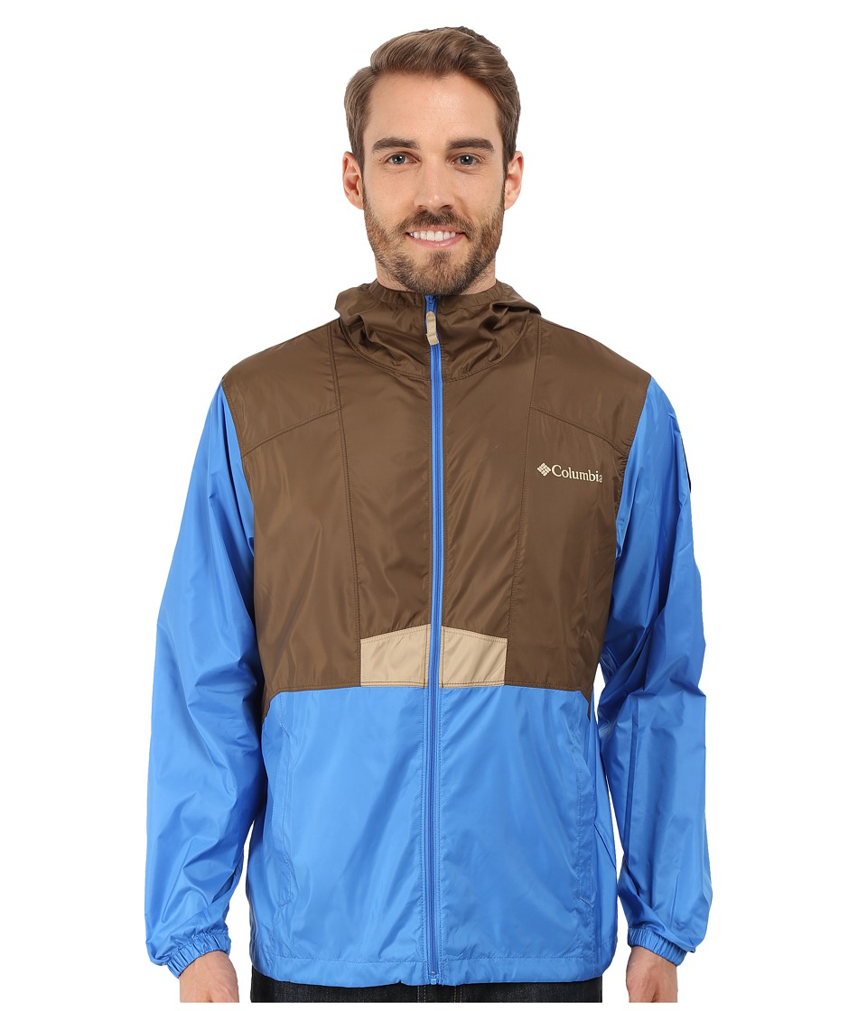 Columbia - Flashback Windbreaker Park Edition (Camo Brown/Pacific Blue/Grand Canyon) Men's Coat