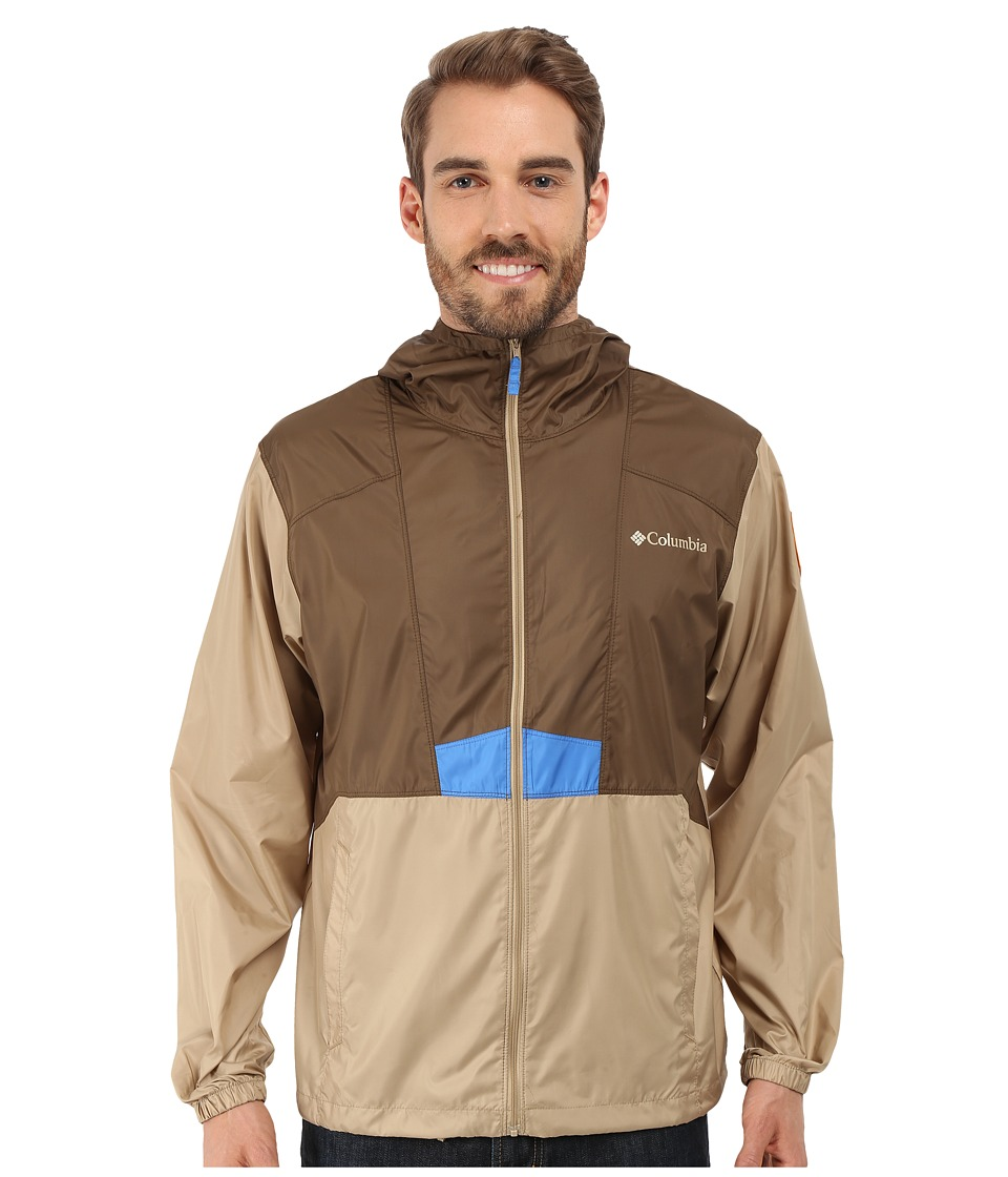 Columbia - Flashback Windbreaker Park Edition (Camo Brown/British Tan/Zion) Men's Coat