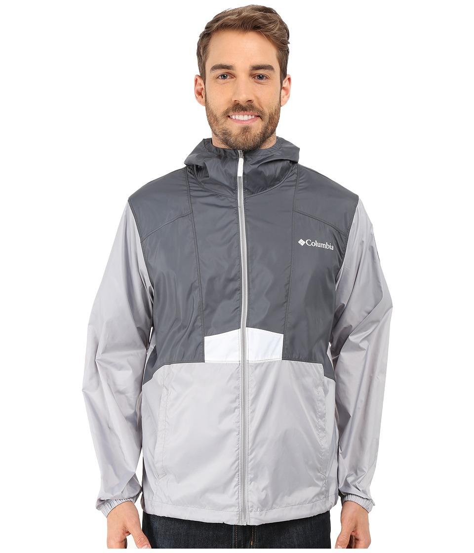 Columbia - Flashback Windbreaker Park Edition (Graphite/Columbia Grey/Yellowstone) Men's Coat