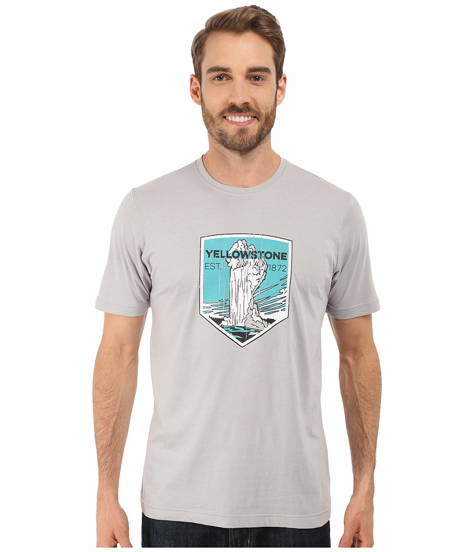 Columbia - National Parks Tee (Grey Heather/Yellowstone) Men's T Shirt