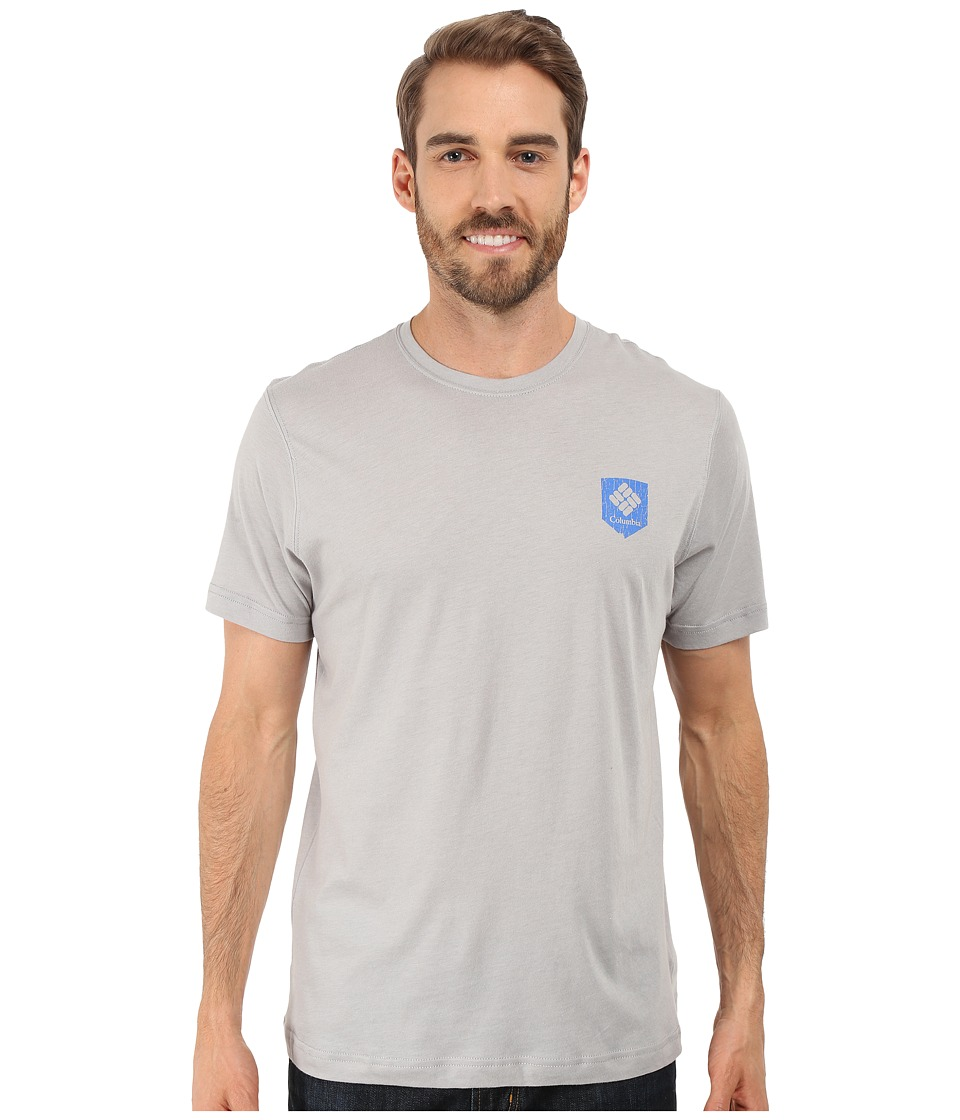Columbia - National Parks Tee (Grey Heather/All Parks) Men's T Shirt