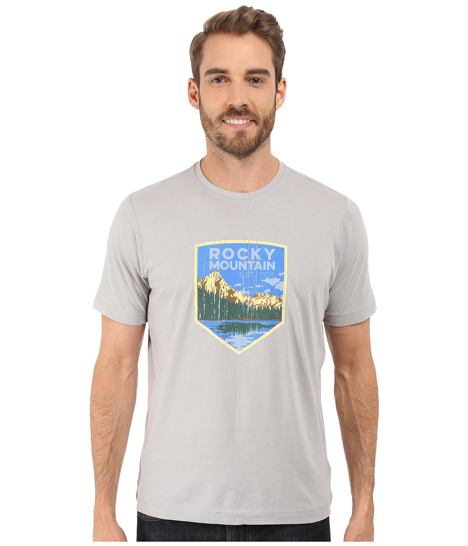 Columbia - National Parks Tee (Grey Heather/Rocky Mountain) Men's T Shirt