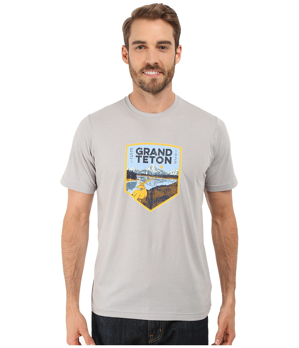 Columbia - National Parks Tee (Grey Heather/Grand Teton) Men's T Shirt