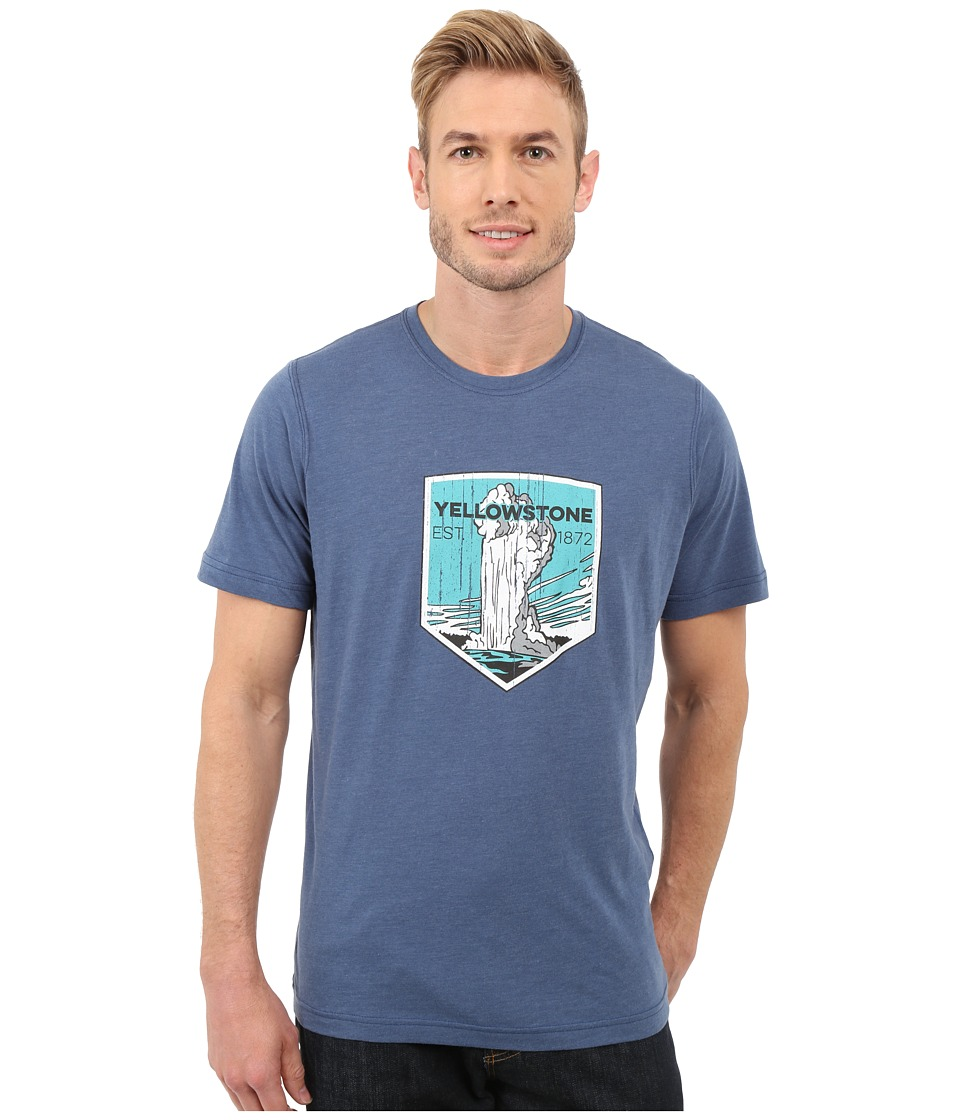 Columbia - National Parks Tee (Night Tide Heather/Yellowstone) Men's T Shirt