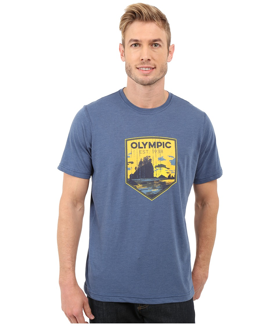 Columbia - National Parks Tee (Night Tide Heather/Olympic) Men's T Shirt