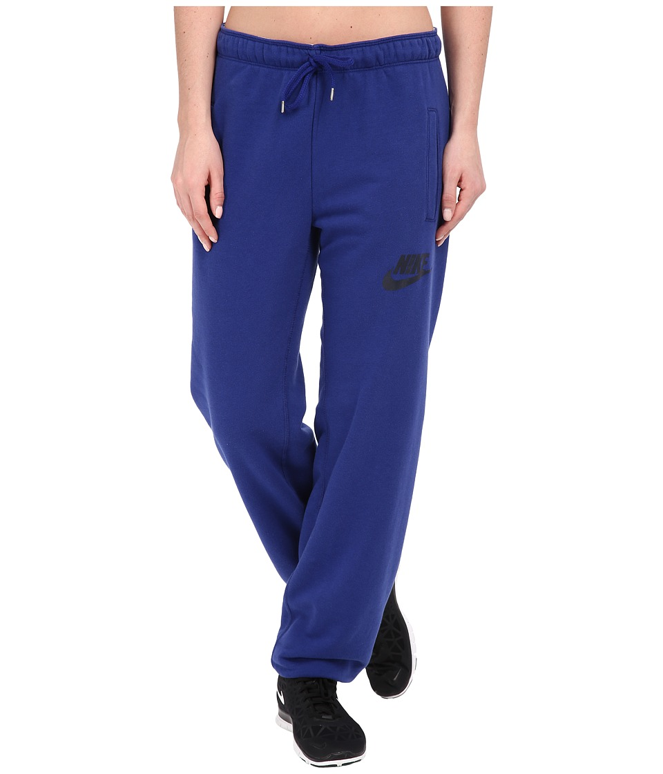 Nike - Rally Loose Pant (Deep Royal Blue/Deep Royal Blue/Obsidian) Women's Casual Pants