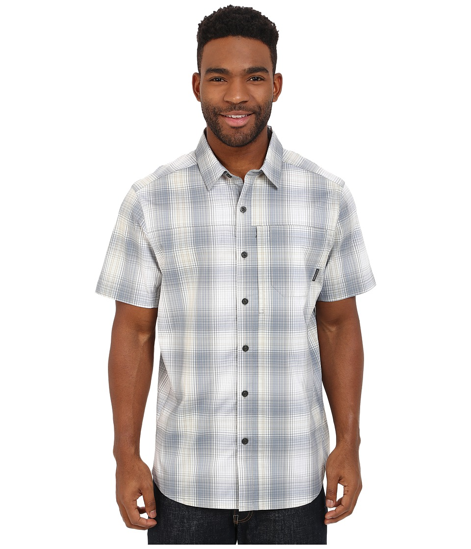 Columbia - Global Adventure IV YD Short Sleeve Shirt (Tradewinds Grey Plaid) Men's Short Sleeve Button Up