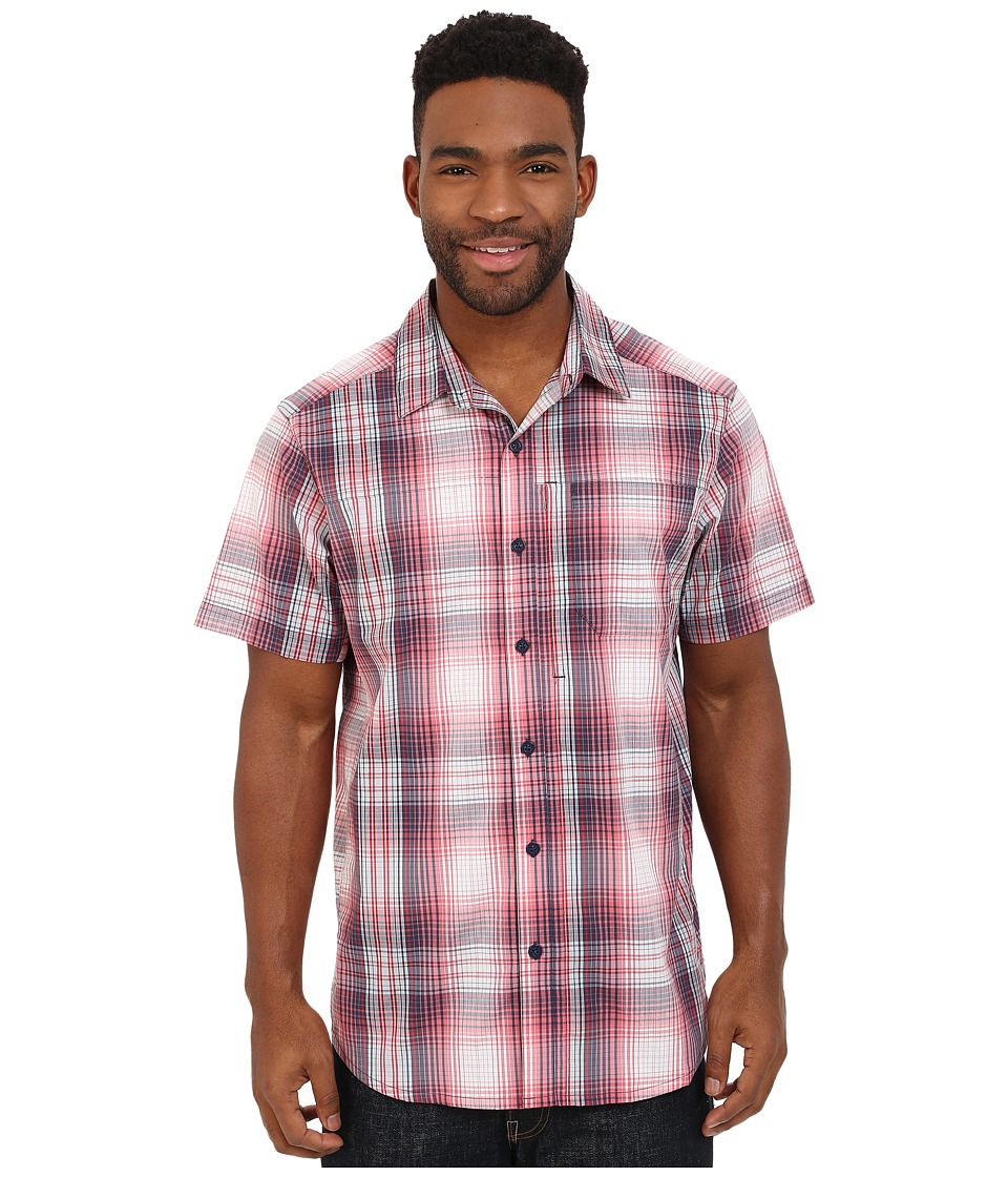 Columbia - Global Adventure IV YD Short Sleeve Shirt (Sunset Red Plaid) Men's Short Sleeve Button Up