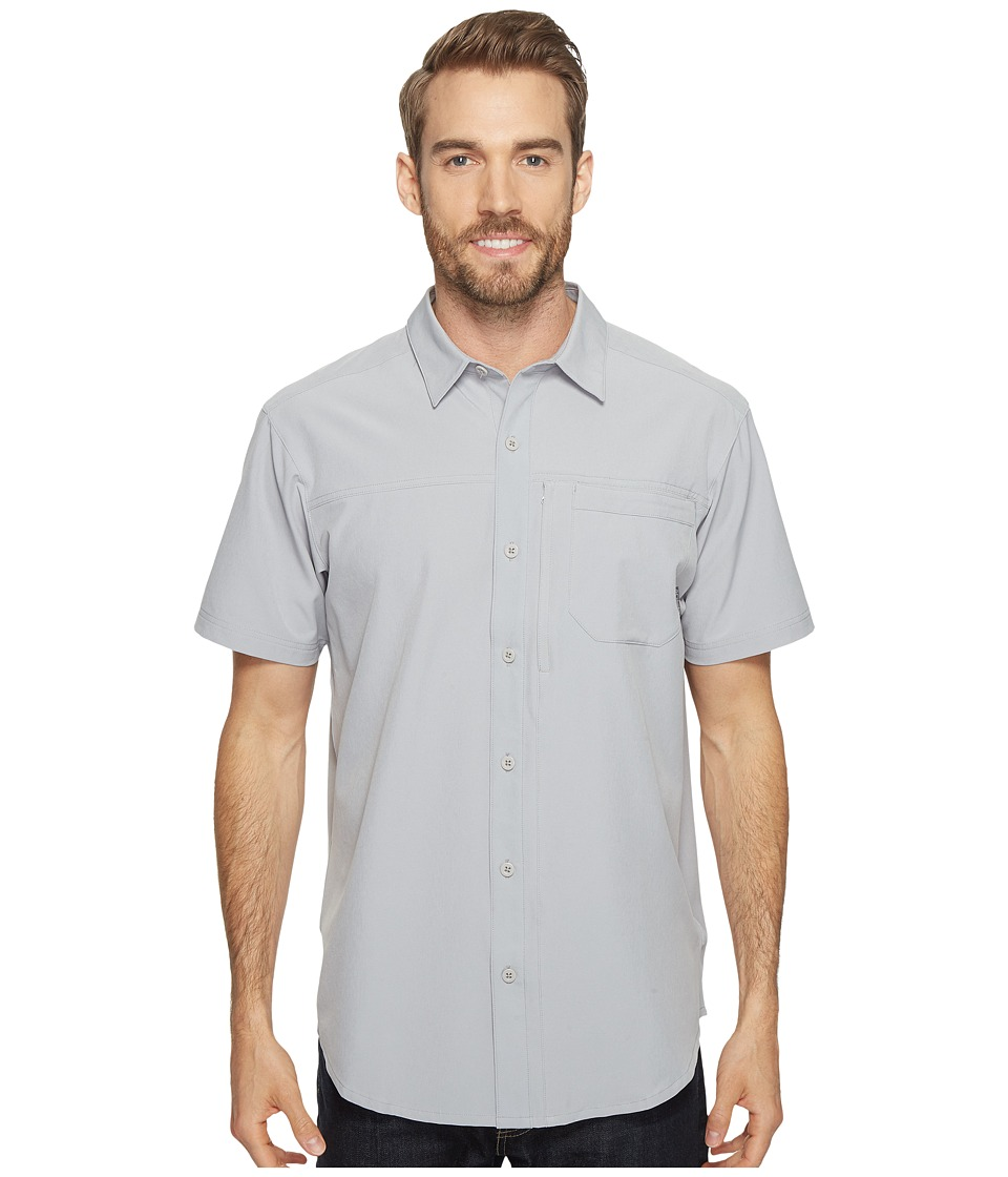 Columbia - Global Adventuretm IV Solid Short Sleeve Shirt (Columbia Grey) Men's Short Sleeve Button Up