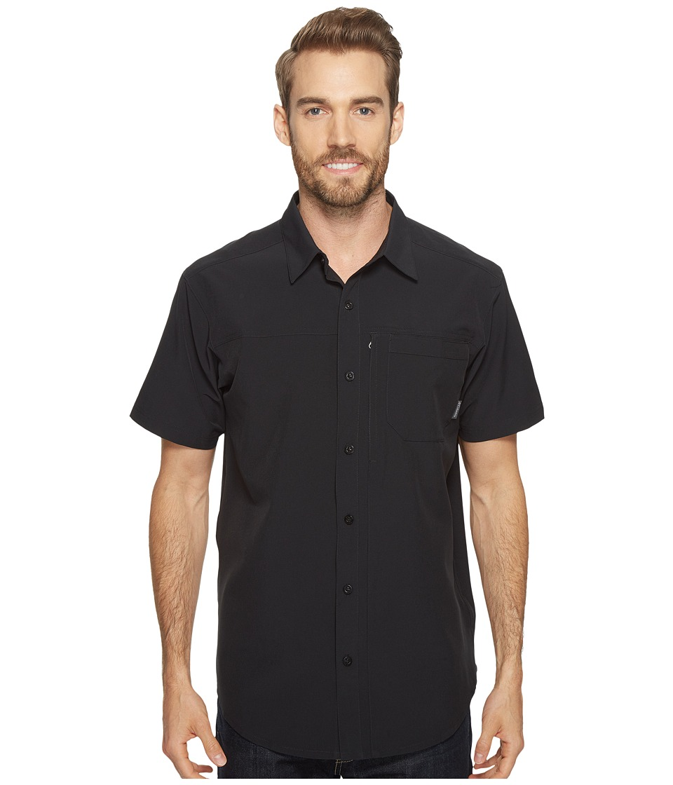 Columbia - Global Adventuretm IV Solid Short Sleeve Shirt (Black) Men's Short Sleeve Button Up