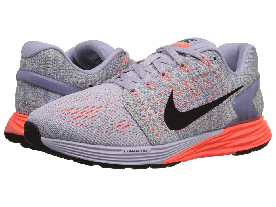 Nike - Lunarglide 7 (Violet Ash/Hyper Orange/Sail/Black) Women's Running Shoes