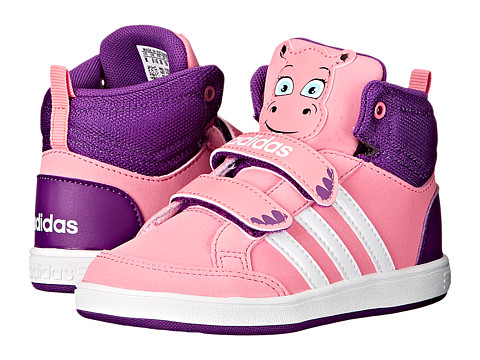 adidas Kids - Hoops Animal Mid (Infant/Toddler) (Vista Pink/White/Tribe Purple) Girls Shoes