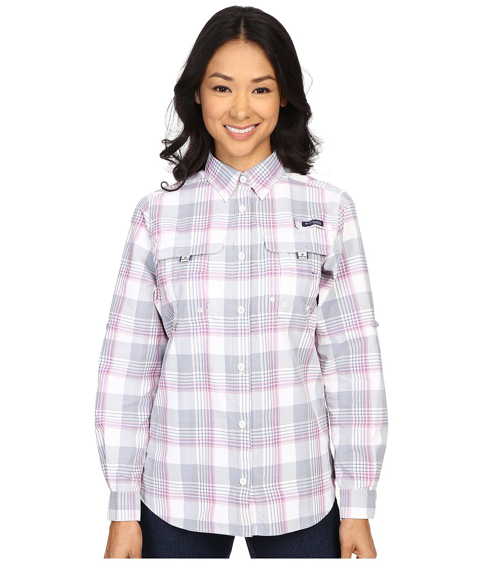 Columbia - Super Bahama L/S Shirt (Bluebell Large Plaid) Women's Long Sleeve Button Up
