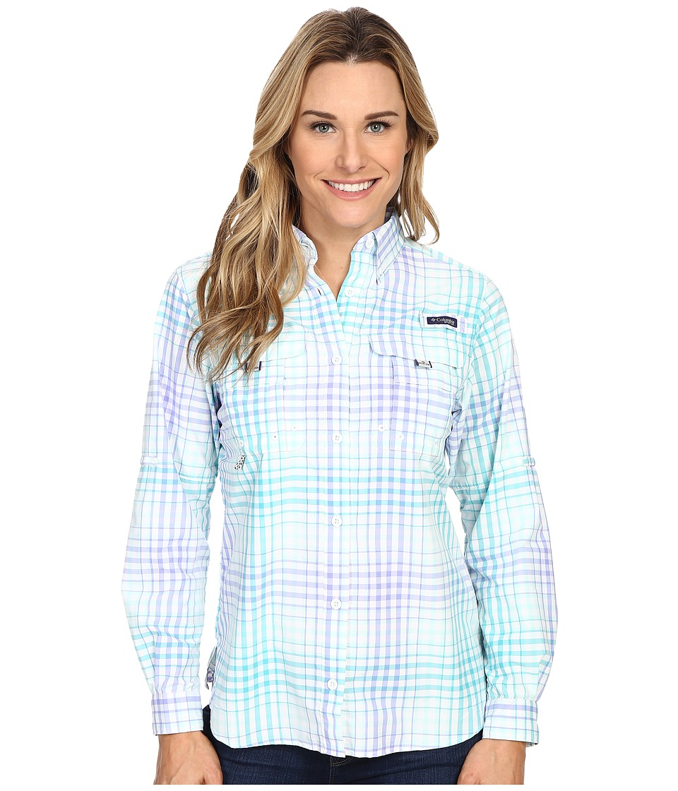 Columbia - Super Bahama L/S Shirt (Miami Multi Plaid) Women's Long Sleeve Button Up