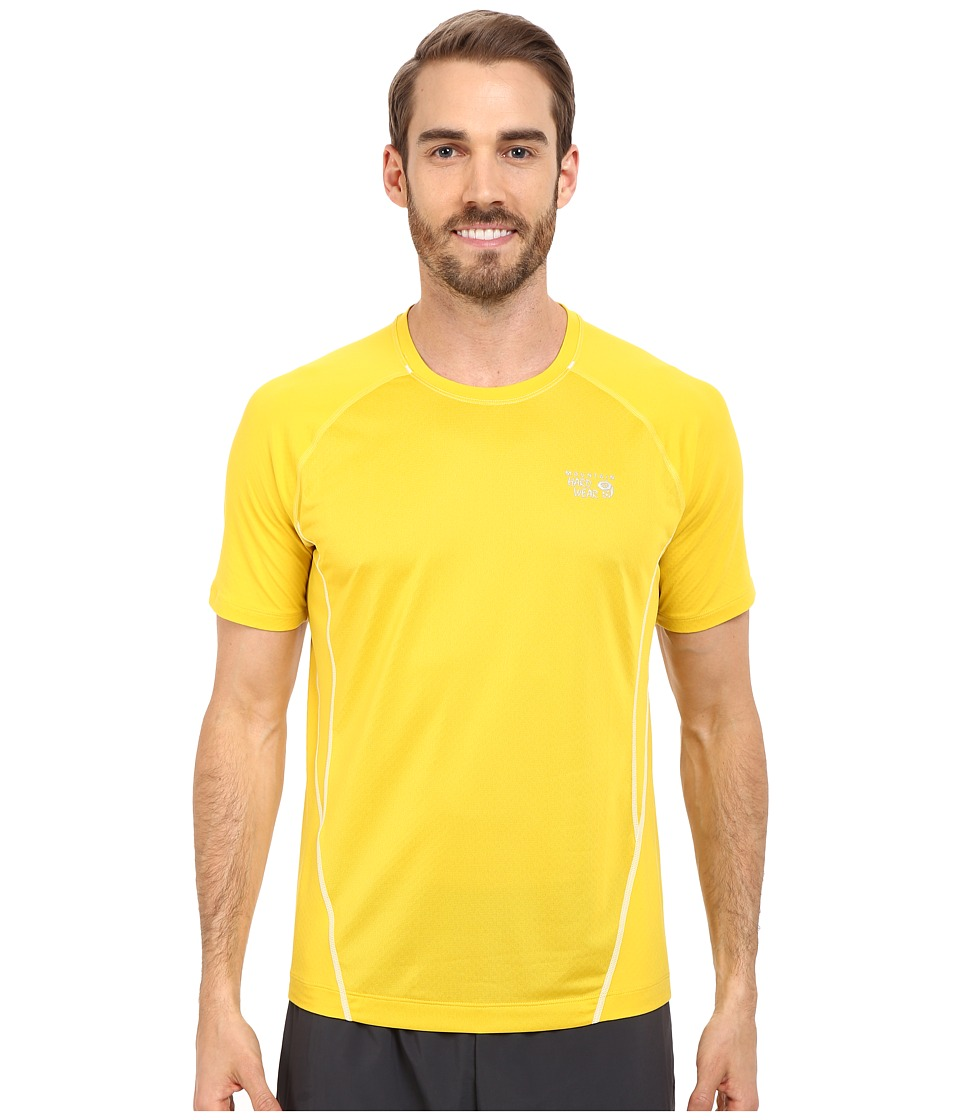 Mountain Hardwear - WickedCool S/S Tee (Electron Yellow) Men's Short Sleeve Pullover
