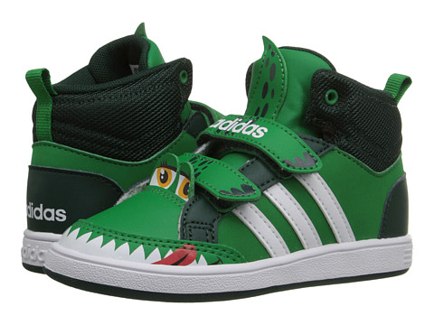 adidas Kids - Hoops Animal Mid (Infant/Toddler) (Green/White/Ivy) Boys Shoes