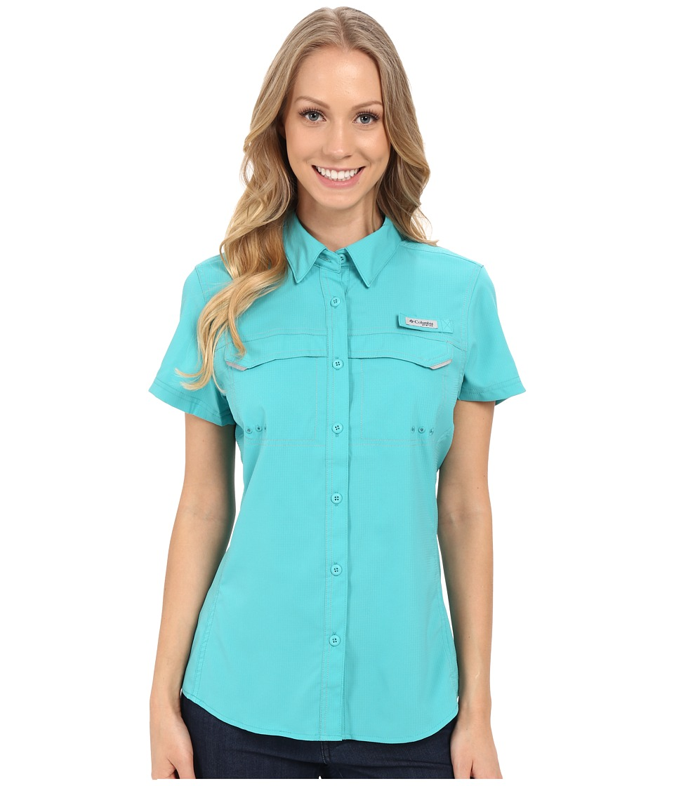 Columbia - Lo Drag Short Sleeve Shirt (Miami) Women's Short Sleeve Button Up